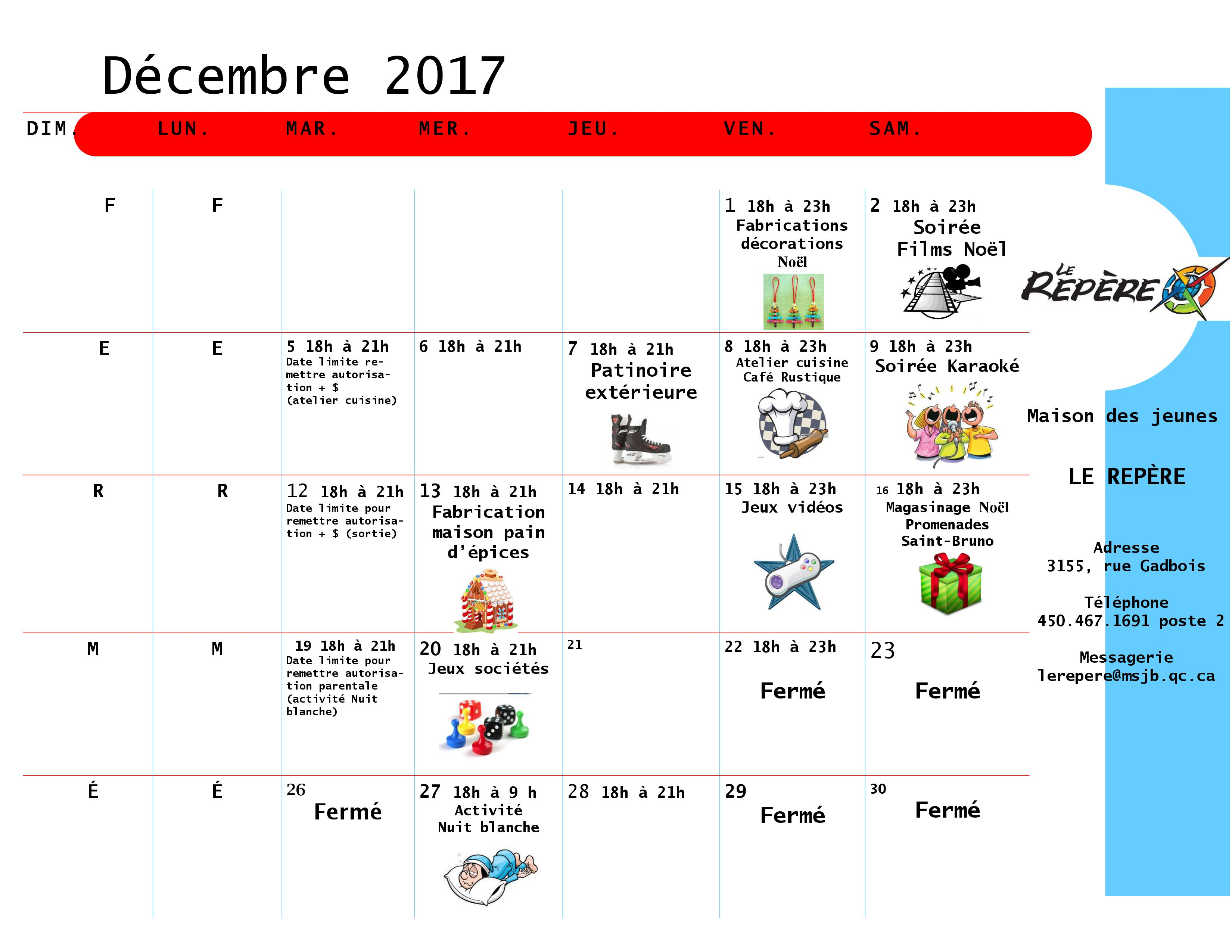 programmation mdj decembre